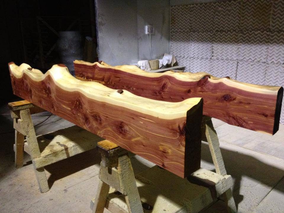 White Valley Lumber Mill in Franklin County offers custom cut cedar mantles and rustic fireplace mantles in addition to custom cut lumber and mill products